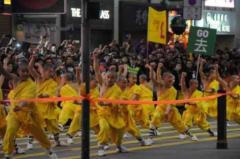 CNY 2012 Cathay Night Parade TST Lunar New Year 8 Shaolin Monks