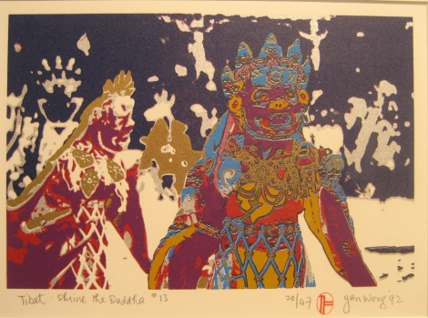 ArtWalk 2012 15 Tibet Shine the Buddha by Yan Wong in Art Beatus Gallery