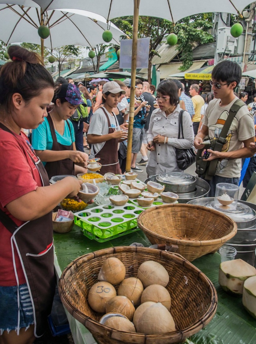 Bangkok Chatuchak Weekend Market Food stall 5