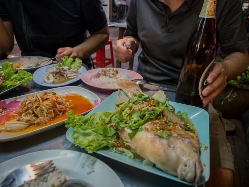 Bangkok Khao San Road 4 Dinner Fresh Fish