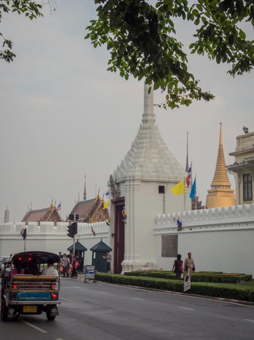Bangkok Tuk Tuk 3 in front of Wat Phra Kaew
