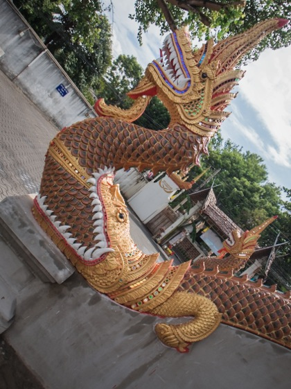 Chiang Mai Temple 2 Wat Sam Pao Makara and Naga