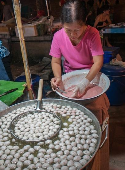 Street food in Chiang Mai 2 fish balls