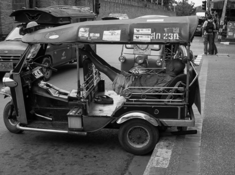 Chiang Mai B&W Favourite 3 Sleeping Tuk Tuk Driver