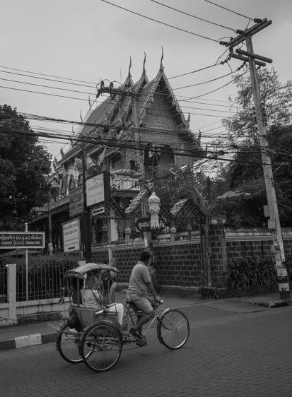 Chiang Mai B&W Favourite 5 Rikscha Driver