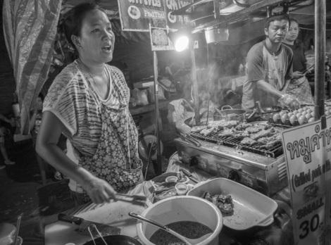 Chiang Mai B&W Favourite 6 Food stall