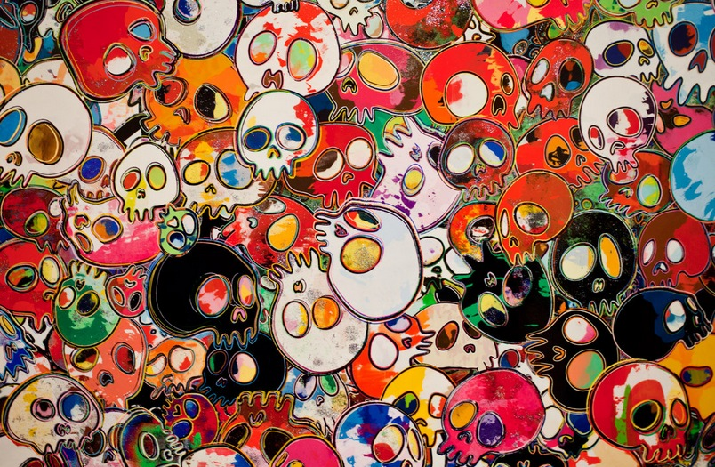 Takashi Murakami at the Gagosian Gallery Hong Kong Jan 2013 4