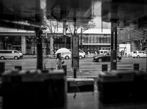 Ginza in the rain B&W 3