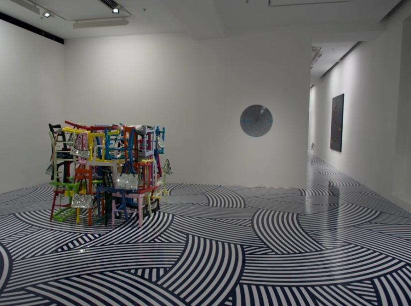 Jim Lambie in Pearl Lam Galleries 1