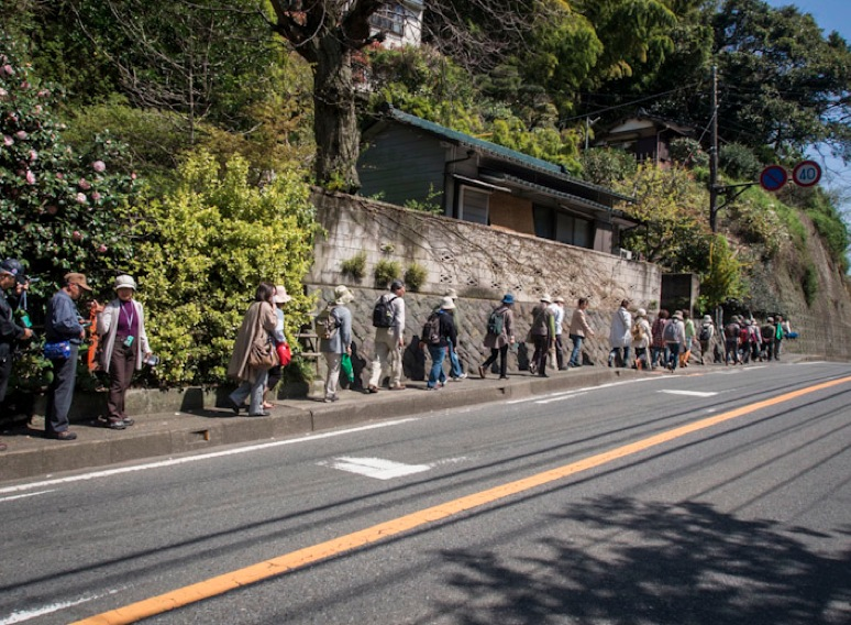 Tourists in Kamakura