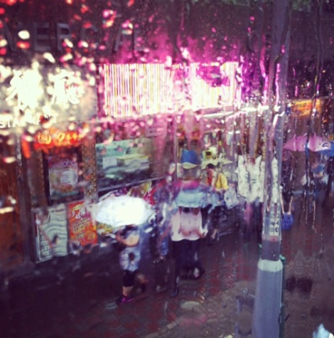Rain in Wan Chai