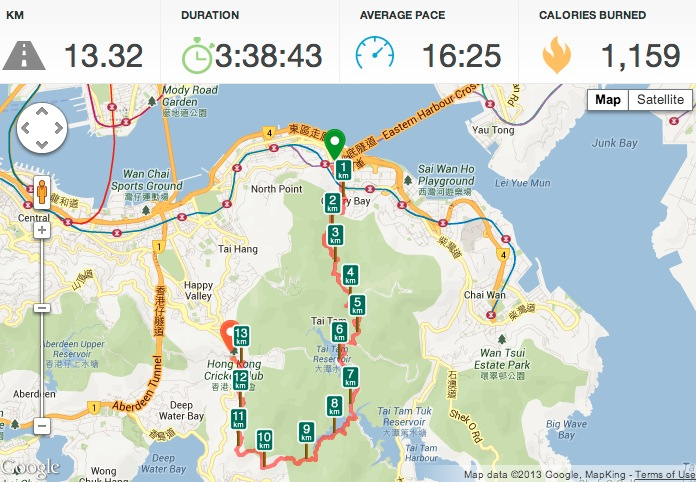 Hike from Quarry Bay to Wong Nai Chung Reservoir June 2013