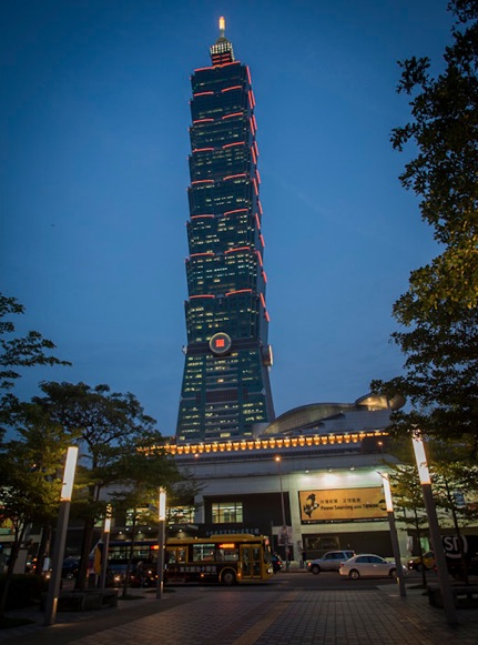 Taipei 101 at night 1