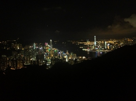 View from Mount BUtler at nighttime towards West