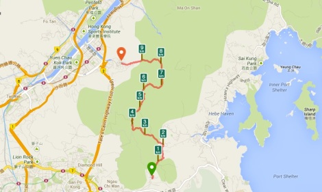 Buffalo Hike Hong Kong Map