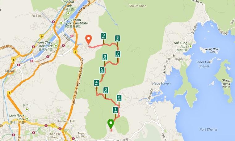 Buffalo Hike Hong Kong Map