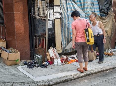 Flea market in Sheung Wan