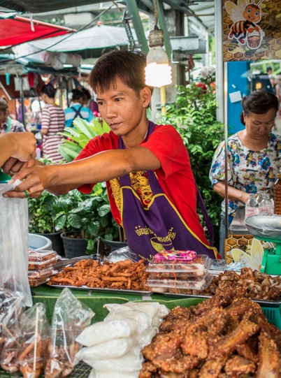 Bangkok Chatuchak Market Food Vendor