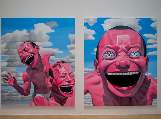Macau Art Museum Yue Minjun exhibition 2013-2