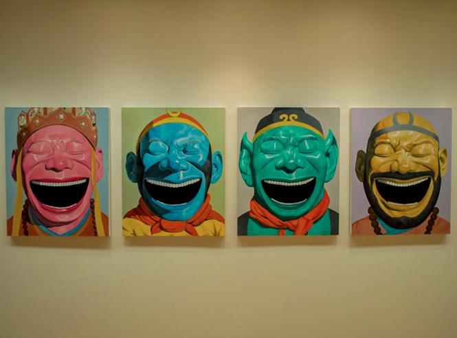 Macau Art Museum Yue Minjun exhibition 2013-3