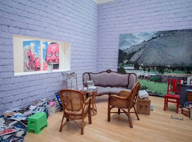 Macau Art Museum Yue Minjun exhibition 2013-4