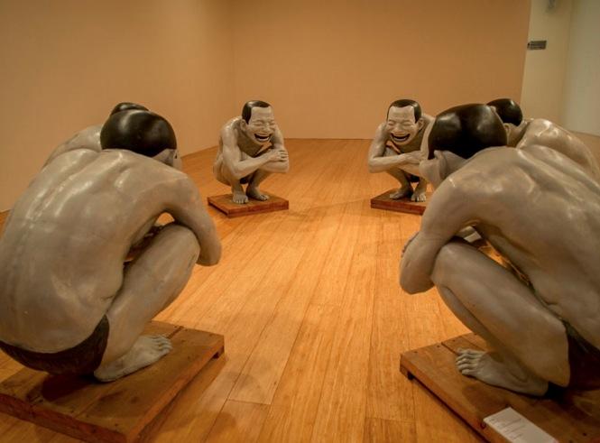 Macau Art Museum Yue Minjun exhibition 2013-8