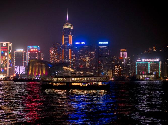New Year's Eve 2013 Hong Kong Skyline 1