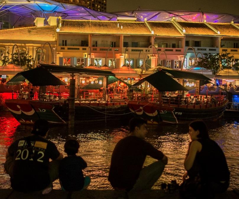Singapore at night 1 Clarke Quay