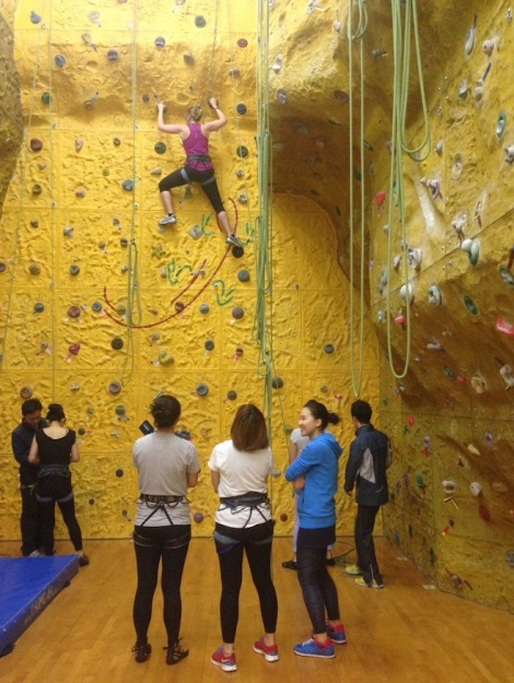 YMCA Indoor Rock Climbing Wall 1