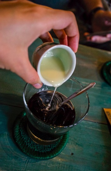 Hanoi coffee with condensed milk