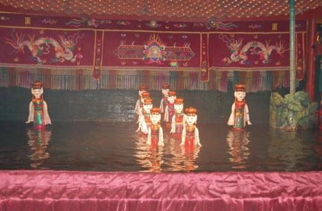 Hanoi water puppet show 2