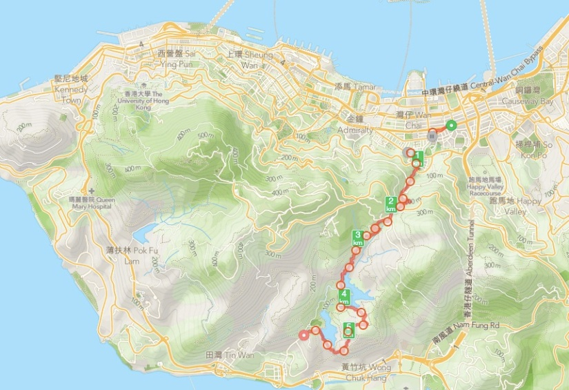 Wan Chai Gap to Aberdeen Night Hike 1