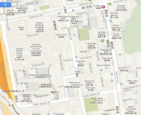 Yau Ma Tei - Map West