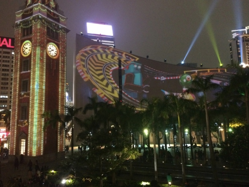Hong Kong Pulse 3D Light Show Christmas 1