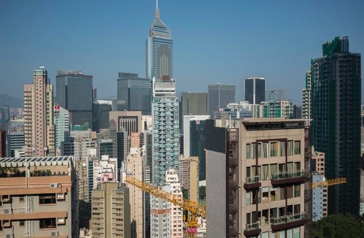 Bowen Road 7 View over Wan Chai