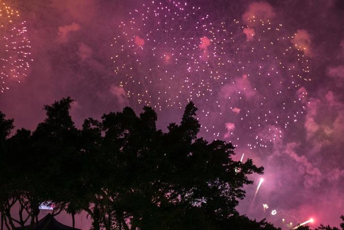 Hong Kong NYE fireworks 2014-1