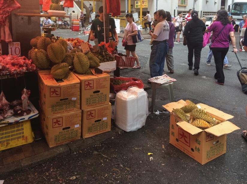 Bowrington Street Market Durian 1