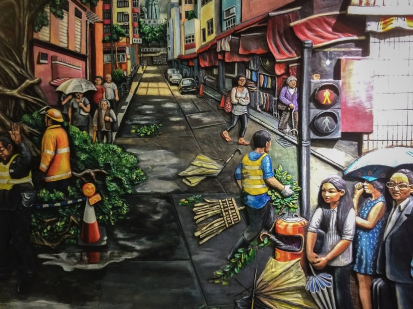 Mural at Sai Ying Pun Station August 2015-5