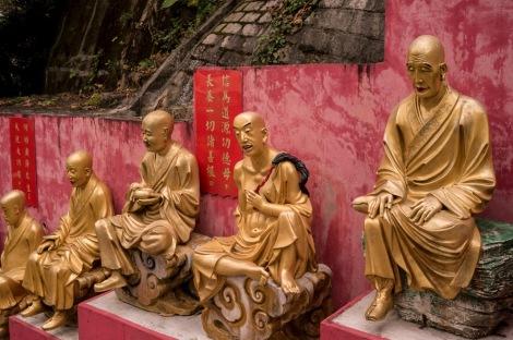 10000 Buddhas in Sha Tin Hong Kong Jan 2016-1