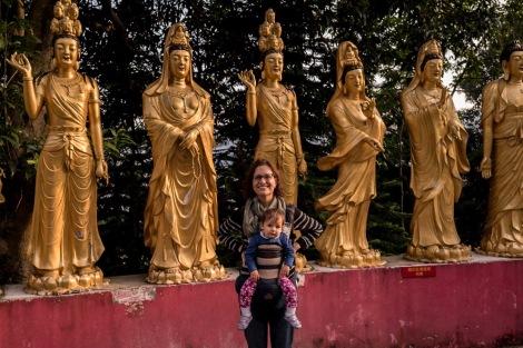 10000 Buddhas in Sha Tin Hong Kong Jan 2016-12