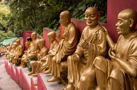10000 Buddhas in Sha Tin Hong Kong Jan 2016-2