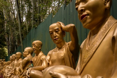 10000 Buddhas in Sha Tin Hong Kong Jan 2016-3