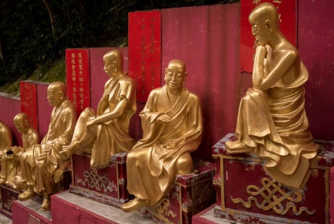 10000 Buddhas in Sha Tin Hong Kong Jan 2016-4
