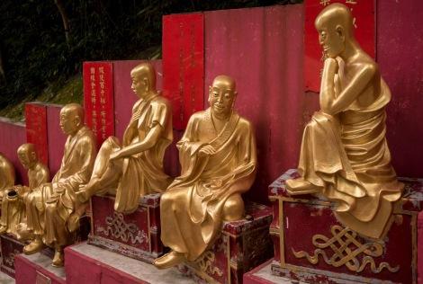 10000 Buddhas in Sha Tin Hong Kong Jan 2016-4